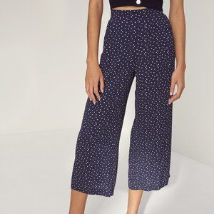 Aritzia Wilfred - Faun Pant - Size S - Polka Dot